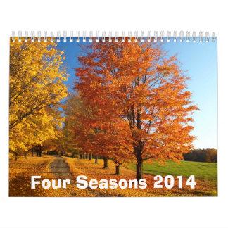 Cuatro calendario de las estaciones 2014