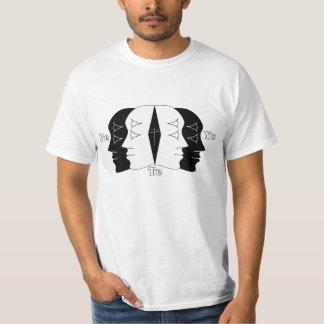 cuatro caras camiseta