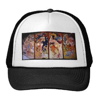 Cuatro estaciones personificadas por las mujeres gorras