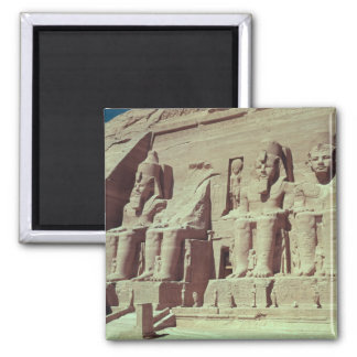Cuatro figuras colosales del rey imanes