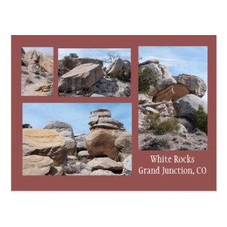 Cuatro fotos de las rocas blancas, GJ, CO Postal
