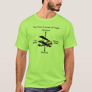 Cuatro fuerzas de camisa del humor de la aviación