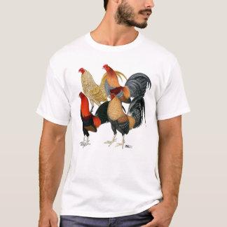 Cuatro gallos de pelea camiseta