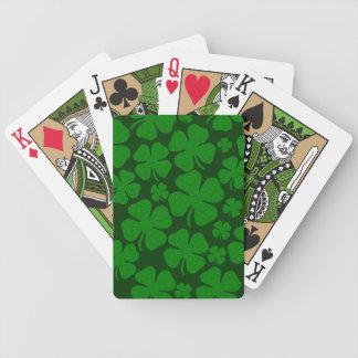 Cuatro hojas del trébol baraja de cartas bicycle