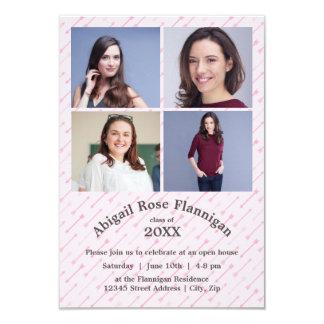 Cuatro invitación del graduado del collage