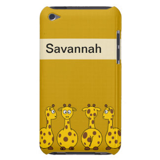 Cuatro jirafas lindas iPod touch carcasas