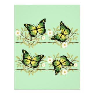 Cuatro mariposas verdes flyer