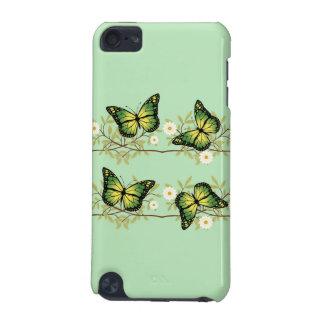 Cuatro mariposas verdes funda para iPod touch 5