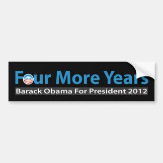 Cuatro más años para Obama Pegatina Para Coche