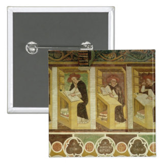 Cuatro monjes dominicanos en sus escritorios, del  chapa cuadrada 5 cm