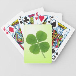 cuatro naipes del trébol de la hoja baraja cartas de poker