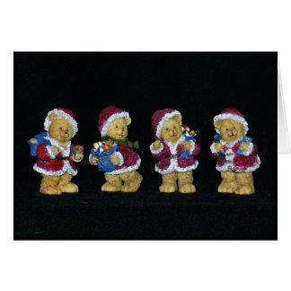 Cuatro navidad de los osos tarjeta de felicitación