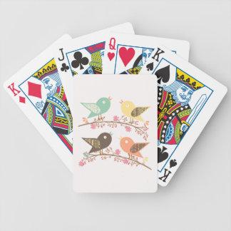 Cuatro pájaros baraja de cartas bicycle