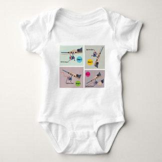 Cuatro pasos para echar la barra de giro con el body para bebé