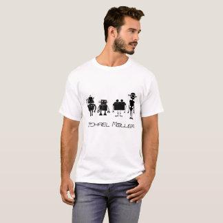 Cuatro robots camiseta