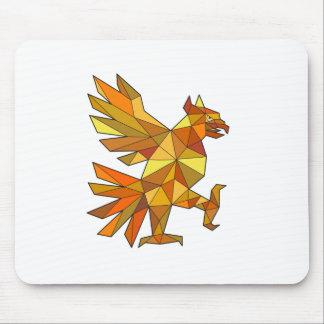 Cuauhtli Glifo Eagle que lucha el polígono bajo de Alfombrilla De Ratón