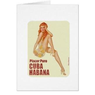 Cuba vintage placer puro havana retrocharms tarjeta de felicitación