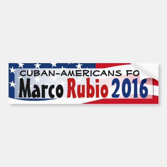 Cubano-Americano para la pegatina para el Pegatina Para Coche