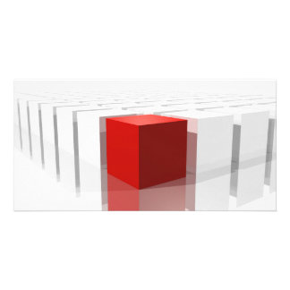 Cubes Concept of difference Tarjeta Con Foto Personalizada