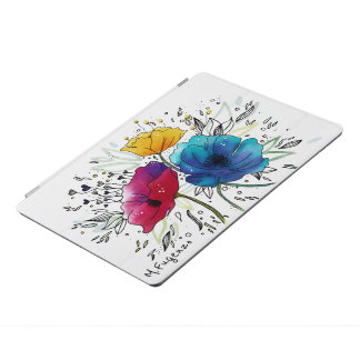 Cubierta adaptable del iPad de las amapolas de