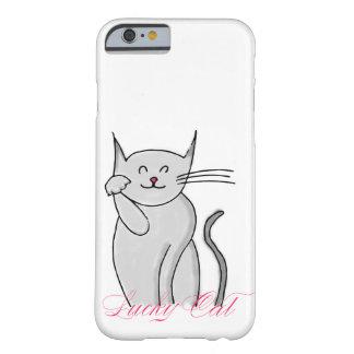 Cubierta afortunada 6/6s del iPhone del gato Funda Barely There iPhone 6