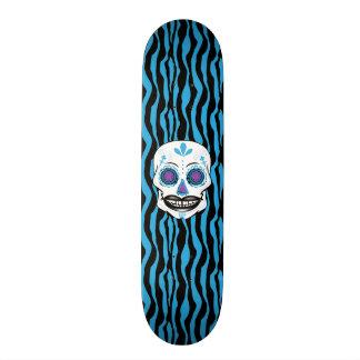Cubierta azul del cráneo del caramelo del monopatín 21,6 cm