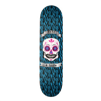 Cubierta azul del cráneo del caramelo del rosa de monopatín 18,7 cm