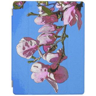Cubierta azul del iPad de la magnolia Cover De iPad