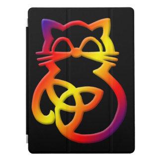 Cubierta céltica del iPad de Apple del gato del