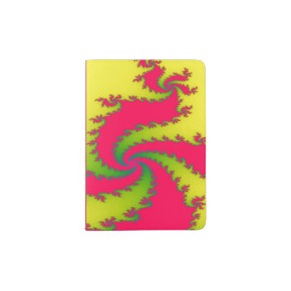 Cubierta china del pasaporte del fractal del portapasaportes
