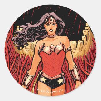 Cubierta cómica nuevos 52 #23 de la Mujer Pegatina Redonda