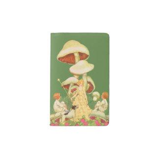 Cubierta de hadas del cuaderno de la seta