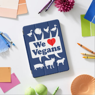Cubierta De iPad Air Amamos a los veganos II (blancos)