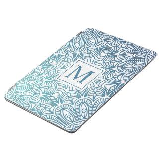 Cubierta De iPad Air Caja floral elegante del aire del monograma el |