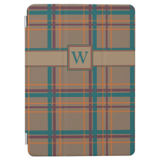 Cubierta De iPad Air Cubierta elegante del iPad de la tela escocesa del
