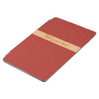 Cubierta De iPad Air Cubierta elegante del iPad rojo moderno