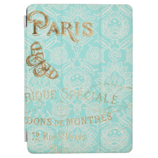 Cubierta De iPad Air Diseño del oro de París del vintage