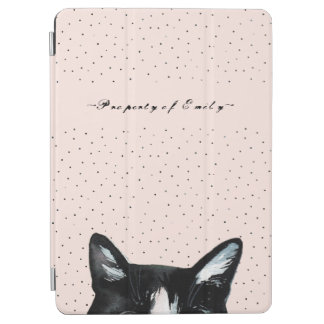 Cubierta De iPad Air El gato que mira a escondidas curioso adorable con