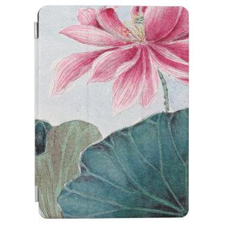 Cubierta De iPad Air Flor de Lotus, pétalos, hojas - verde rosado