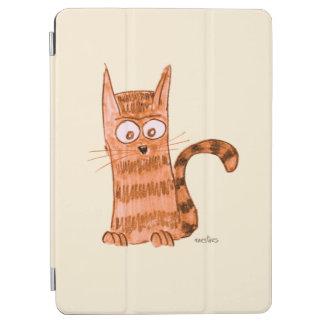 Cubierta De iPad Air Gatito alegre que mira algo que no podemos ver