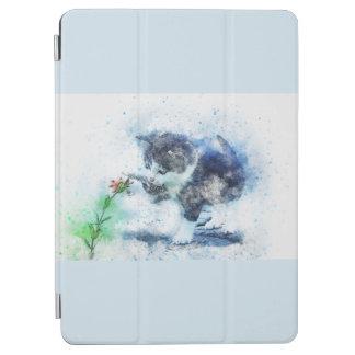 Cubierta De iPad Air Gatito lindo del vintage