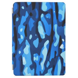 Cubierta De iPad Air Modelo abstracto azul de moda de Camo