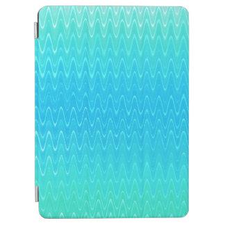 Cubierta De iPad Air Modelo del extracto del verde azul del trullo de