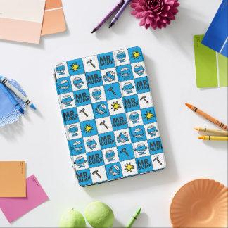 Cubierta De iPad Air Mosaico de Sr. Bump el   en modelo azul