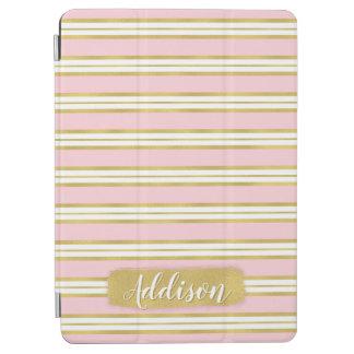Cubierta De iPad Air Nombre rosa claro del personalizado del modelo de