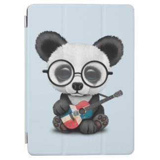 Cubierta De iPad Air Panda del bebé que toca la guitarra dominicana de