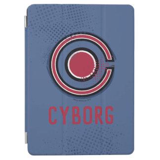 Cubierta De iPad Air Símbolo del Cyborg del cepillo y del tono medio de