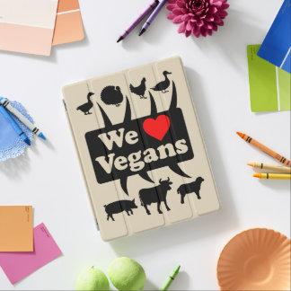 Cubierta De iPad Amamos a veganos II (el negro)