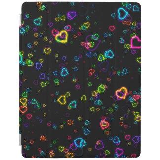 Cubierta De iPad Amo U - neón feliz