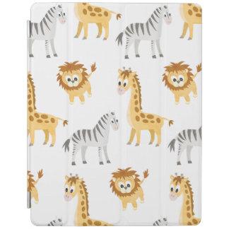 Cubierta De iPad Animales lindos del bebé del león y de la jirafa